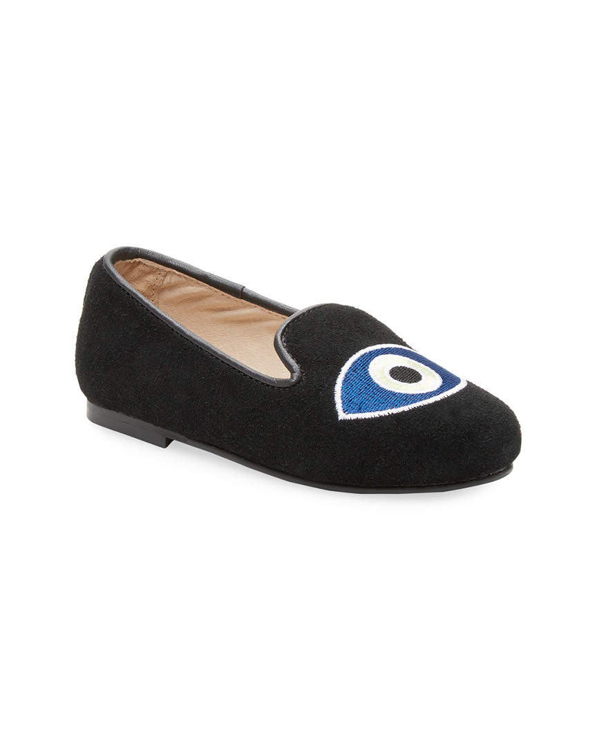 SUEDE EVIL EYE LOAFERS