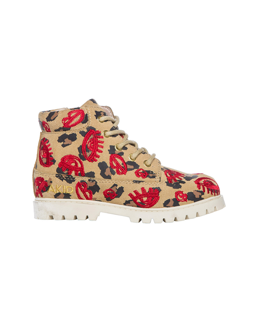 ATTICUS LEOPARD LIPS BOOT