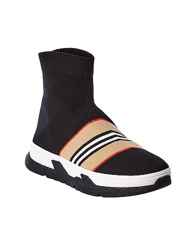 Rue La La — Burberry Icon Stripe Sock Sneaker