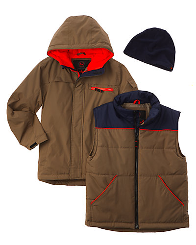 Hawke & Co. Boys' System Vest & Inner Jacket