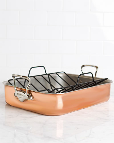 Mauviel M'150 Copper Roasting Pan with Rack