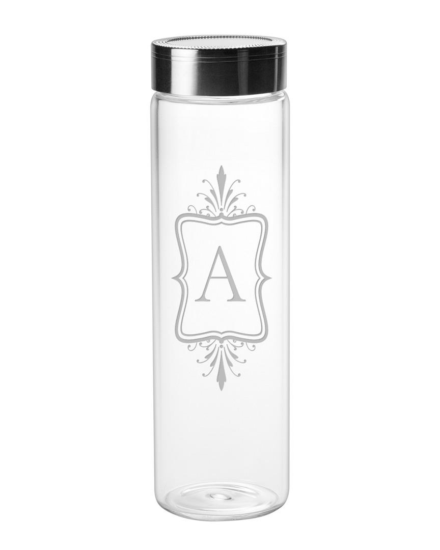 Susquehanna Glass Emile Monogram Sleek 18Oz Water Bottle photo