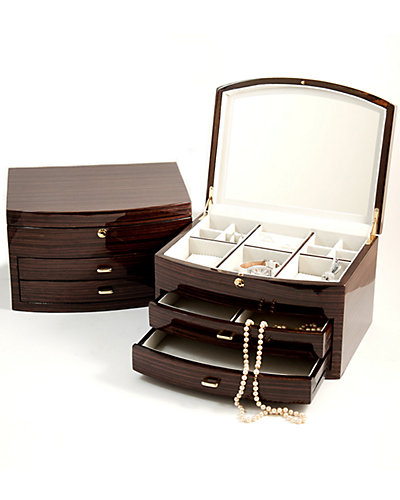 Laquered Wood Jewelry Box