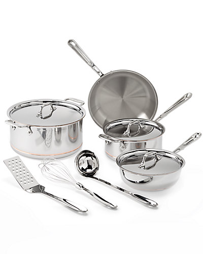 All-Clad 7pc Copper Core Cookware Set with Tools