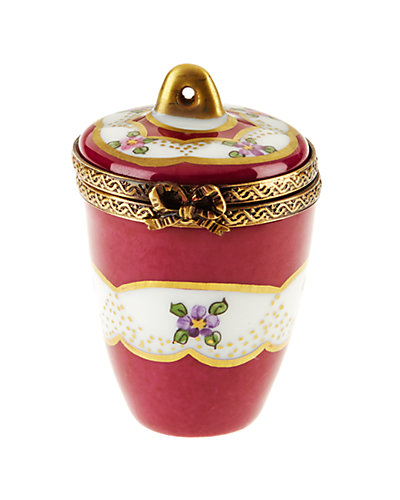 Rochard Limoges Burgundy Urn Shape With Gold Handle