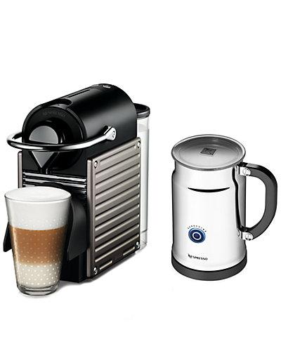 "Nespresso ""Pixie"" Espresso Machine & Aeroccino"