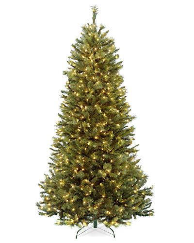 7.5ft Rocky Ridge Slim Pine Tree with Clear Lights
