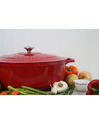 Chasseur 7.25qt Red French Enameled Cast Iron  Dutch Oven