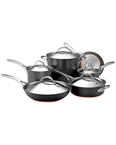 Anolon Nouvelle Copper Hard Anodized Nonstick 11pc Cookware Set