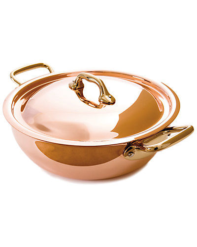 Mauviel M'150 8in Round Vegetable Pan with Lid