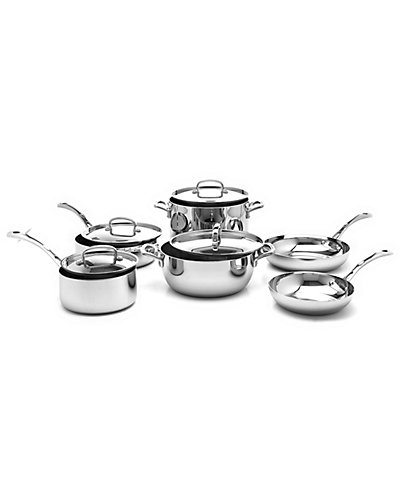 "Cuisinart ""French Classic"" 10pc Stainless Steel Cookware Set"