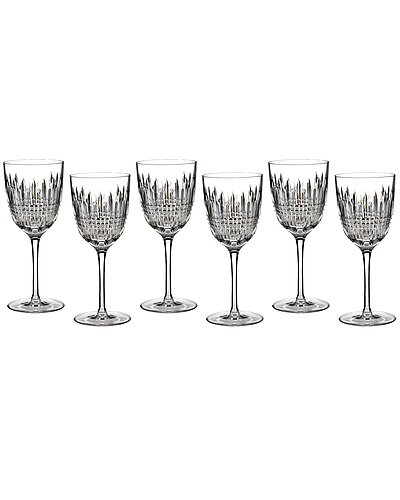 Waterford Lismore Diamond  Set of 6 Goblets