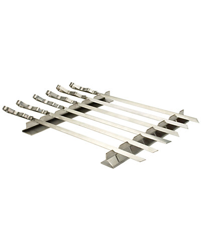 Charcoal Companion Stainless Kabob Rack with 6-Skewers Set