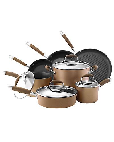 Anolon Advanced Bronze Hard-Anodized Nonstick 11pc Cookware Set