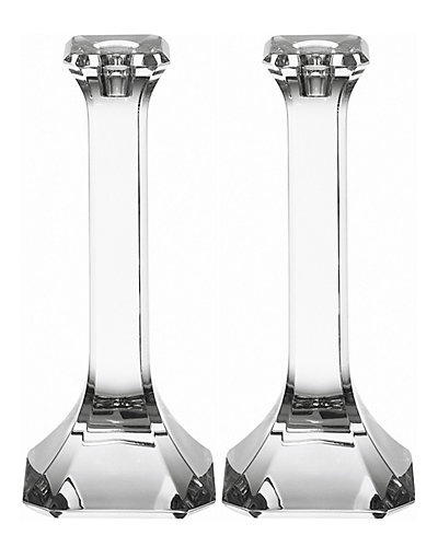 """Orrefors """"Regina"""" Set of Two 10.87in Candlestick Holders"""