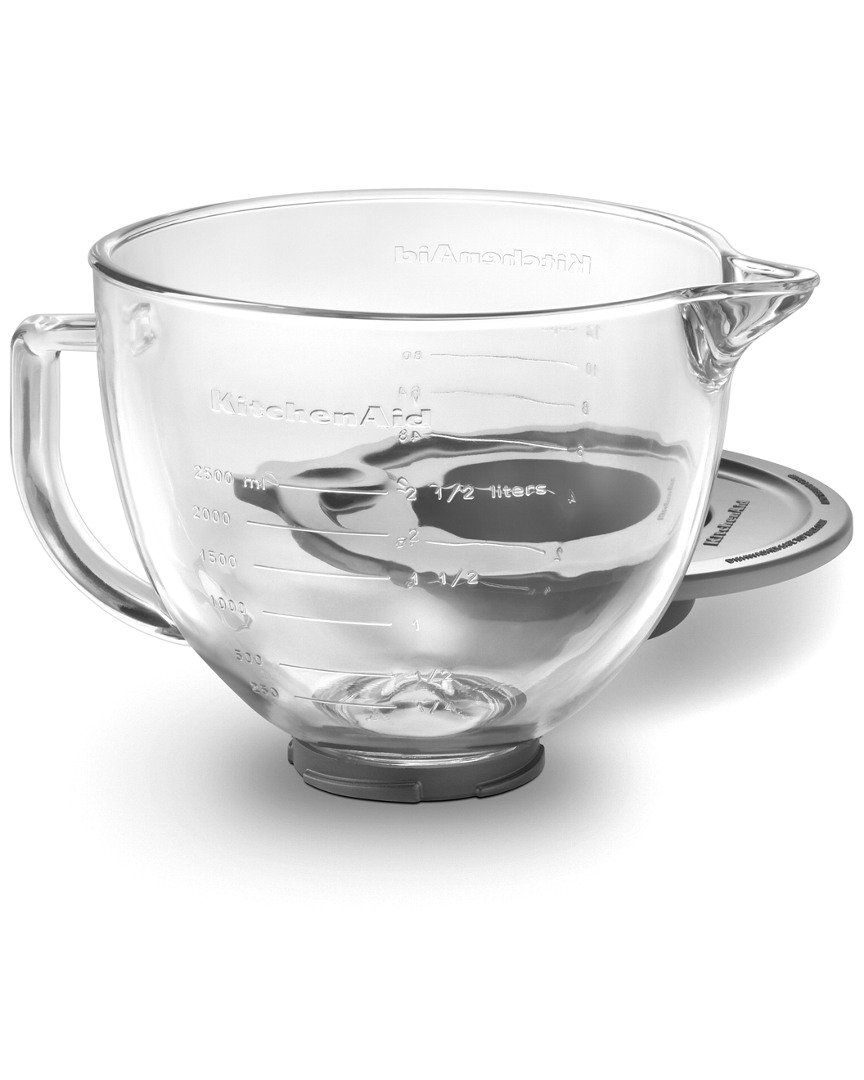 Kitchenaid 5Qt Glass Bowl With Measurement Markings, Pour Spout, Lid photo