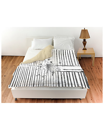 Love Force Field Silver Duvet Cover by The Oliver Gal Artist Co.