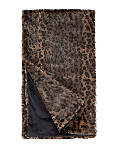 Fabulous Faux Fur Couture Panther Throw