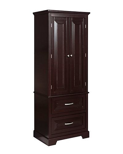 Alfa Linen Tower with Two Doors and Two Drawers