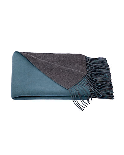Cashmere & Wool blend Reversible Throw