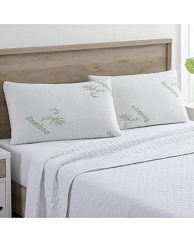 Modern Threads Set of 2 Bamboo Memory Foam Pillows as seen on Access Hollywood deals