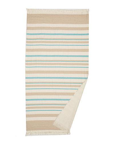 Nostalgic Terry Beach Towel With Fringe