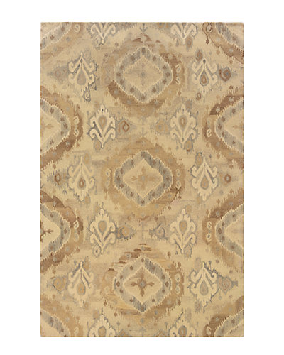 Transitional Abstract Hand-Made Rug