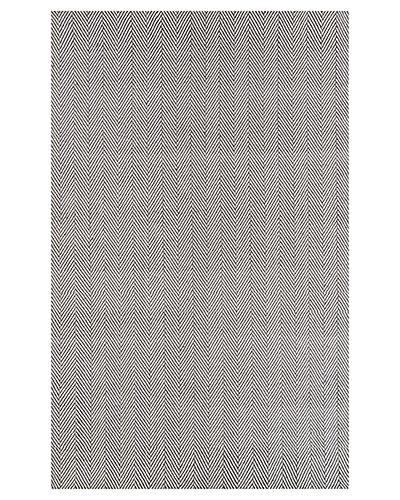 Herringbone Cotton Hand-Loomed 8 ft x 10 ft Rug