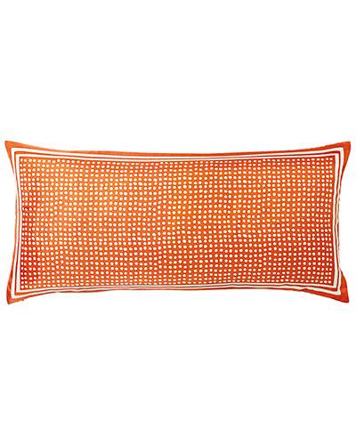 Serena & Lily Large Silk Scarf Dot Lumbar Pillow