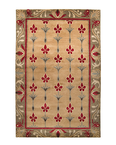 Arts and Crafts Hand-Knotted 5ft x 8ft Rug