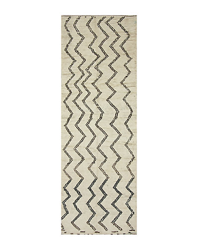 Berber Hand-Knotted 4 ft 3 in x 12 ft 8 in Rug