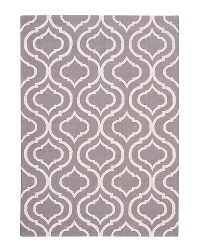 Linear Hand-Hooked Rug