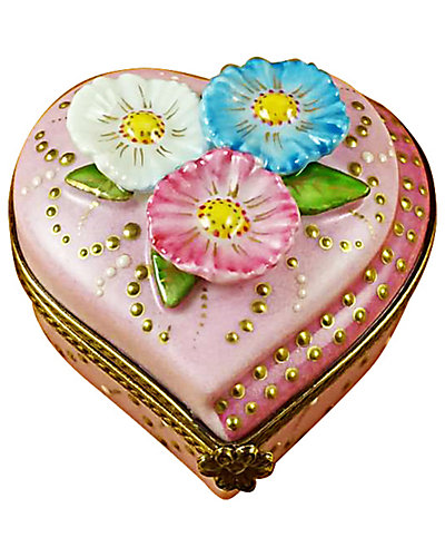 Rochard Limoges Heart W/Daisies