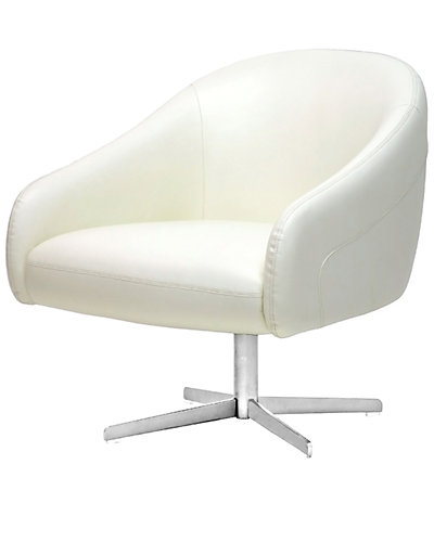 Balmorale Leather Modern Swivel Chair