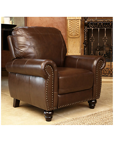 Bella Top-Grain Leather Pushback Recliner
