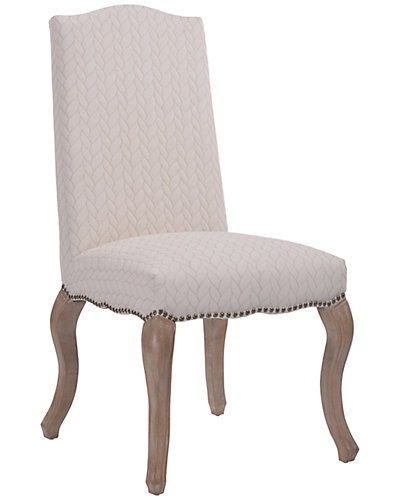 Set Of Two Quilted Cabriolet Upholstered Chairs