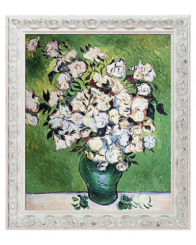 Vase with Roses by Vincent Van Gogh Framed Hand Painted Oil on Canvas
