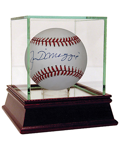 Joe Dimaggio Signed OAL Brown Baseball by Steiner Sports