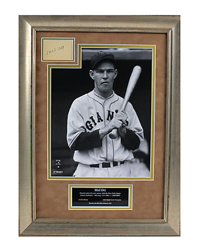 Mel Ott Framed and Signed Cut Collage  by Steiner Sports