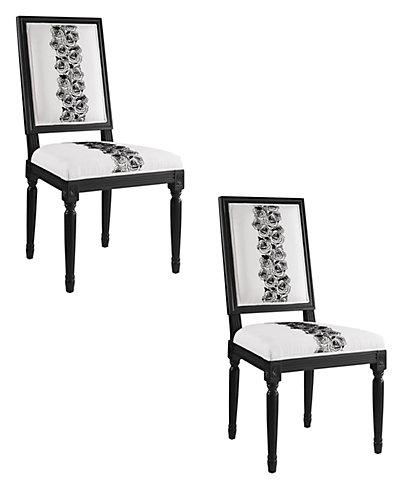 Set of 2 Rose Square Back Chair