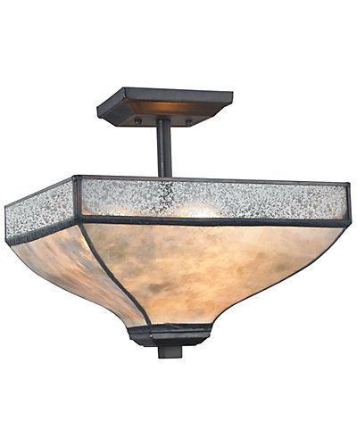 Santa Fe 3-Light Semi Flush