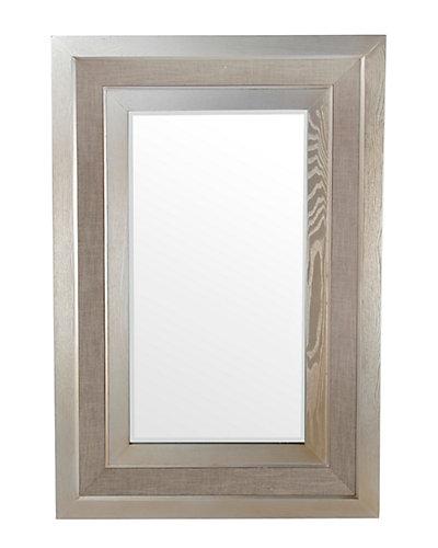 Wood & Linen Mirror