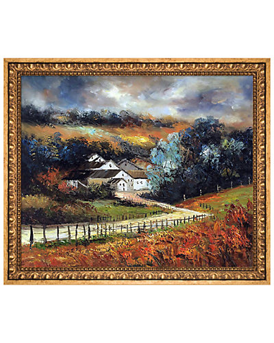 Sechery in Autumn by Pol Ledent Framed Hand Painted Oil Reproduction