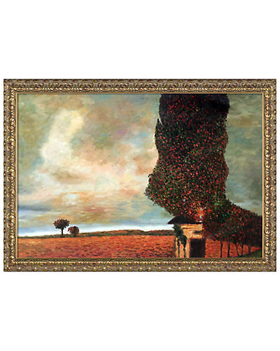 High Poplar by Gustav Klimt Framed Hand Painted Oil Reproduction