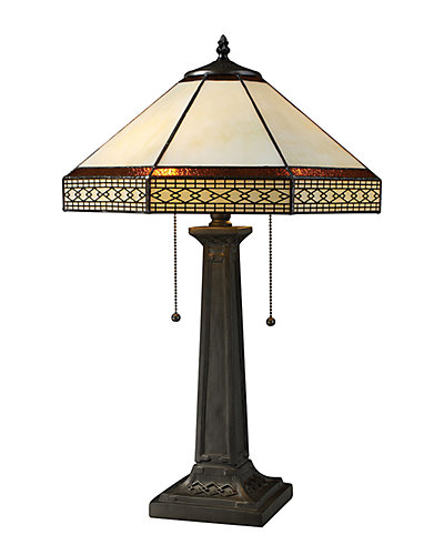 Stone Filigree 24in Table Lamp