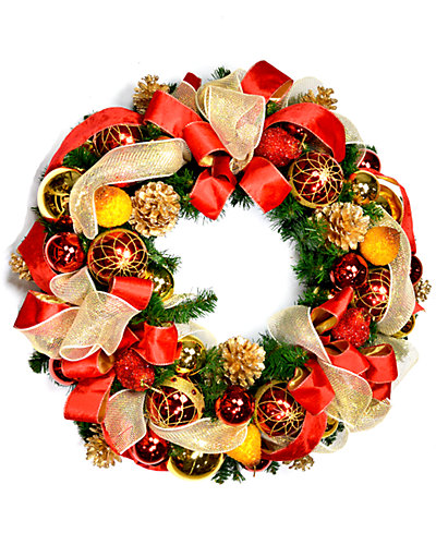 Red And Gold Assorted Wreath