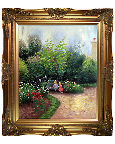 A Corner of the Garden at Hermitage Boulevard Montmartre, Spring by Camille Pissarro Framed Hand Painted Oil Reproduction