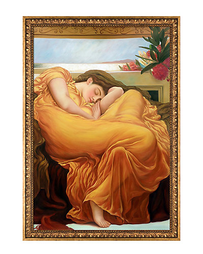 Flaming June by Sir Frederic Leighton Framed Hand Painted Oil Reproduction