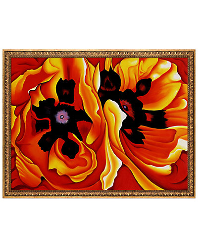 Oriental Poppies, 1928 by Georgia O'Keeffe Framed Hand Painted Oil Reproduction