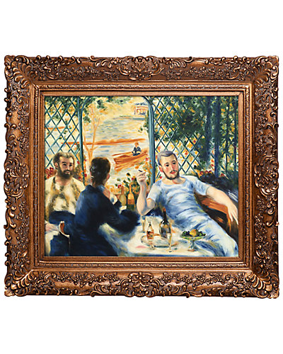 Lunch at the Resturant Fournaise (The Rowers' Lunch) by Pierre-Auguste Renoir Framed Hand Painted Oil Reproduction
